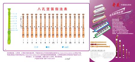 奇美六孔竖笛指法图 六孔竖笛的歌谱